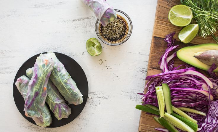 For those days your taste buds are craving something fresh and colorful foods, eat the rainbow with these rice paper rolls. Packed with an array of colors, therefore nutrients and a tasty dipping sauce to match.