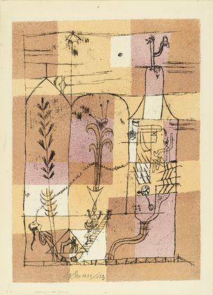 Paul Klee, Hoffmannesque Scene.  1921. Lithograph.