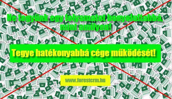 Növelje értékesítői hatékonyságát! www.forestcrm.hu