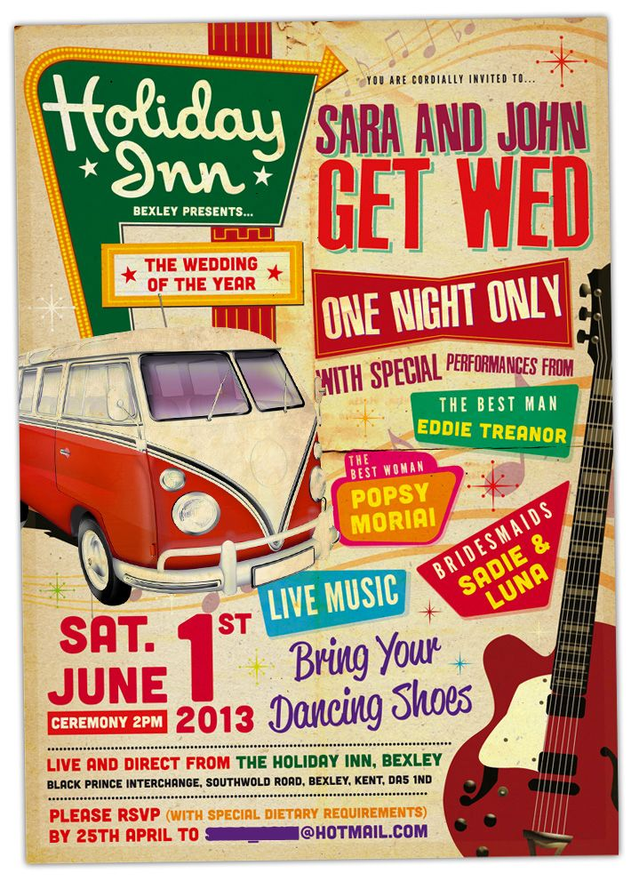 Concert Poster Wedding Invitations