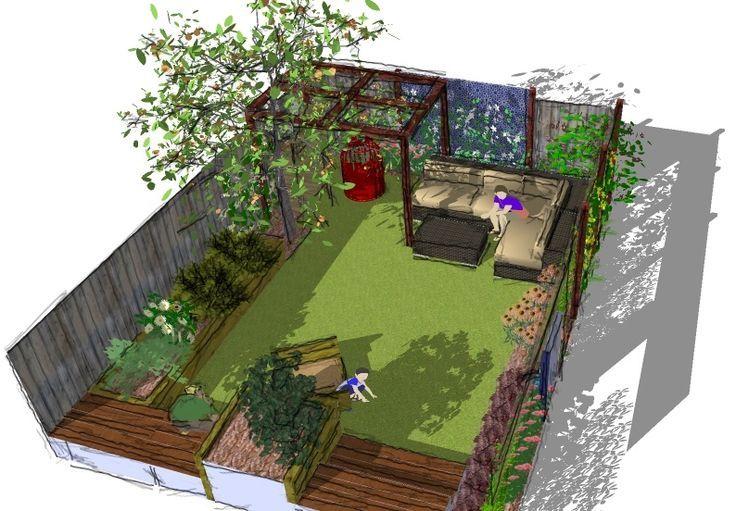 Dieser Entwurf zielt darauf ab, der Familie einen nutzbaren Hof zu bieten …