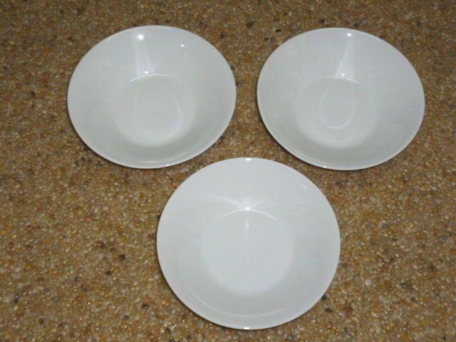 Hertel Jacob China Bowl Saucer All White Bavaria Germany Lot of 3  #HertelJacob