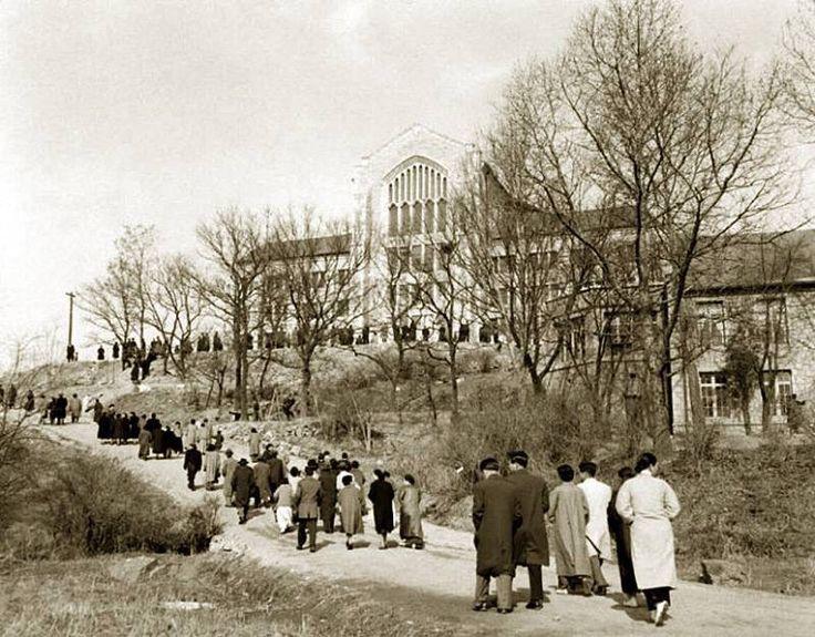 1957년 이화여대 졸업식