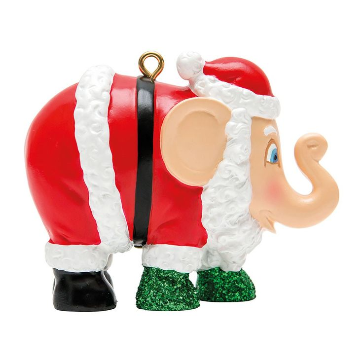 Christmas elephant for hanging, Santa