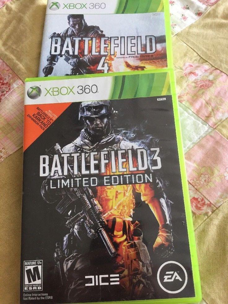 Xbox 360 Battlefield 3 Limited Edition And Battlefield 4    eBay