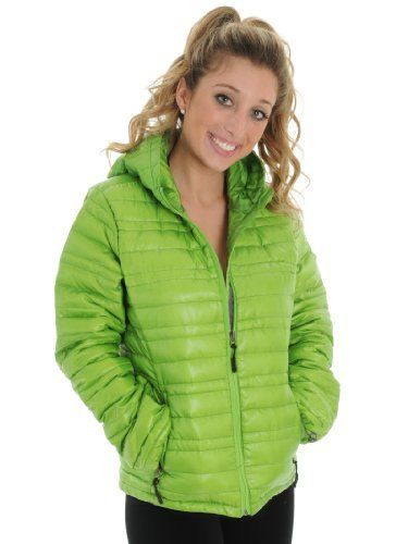 Green Down Puffy Jacket Womens Ski Snow Board Warm Comfortable Light Weight CB Sports Collection Sizes: X-Large CB Sports. $52.99. Save 63%!
