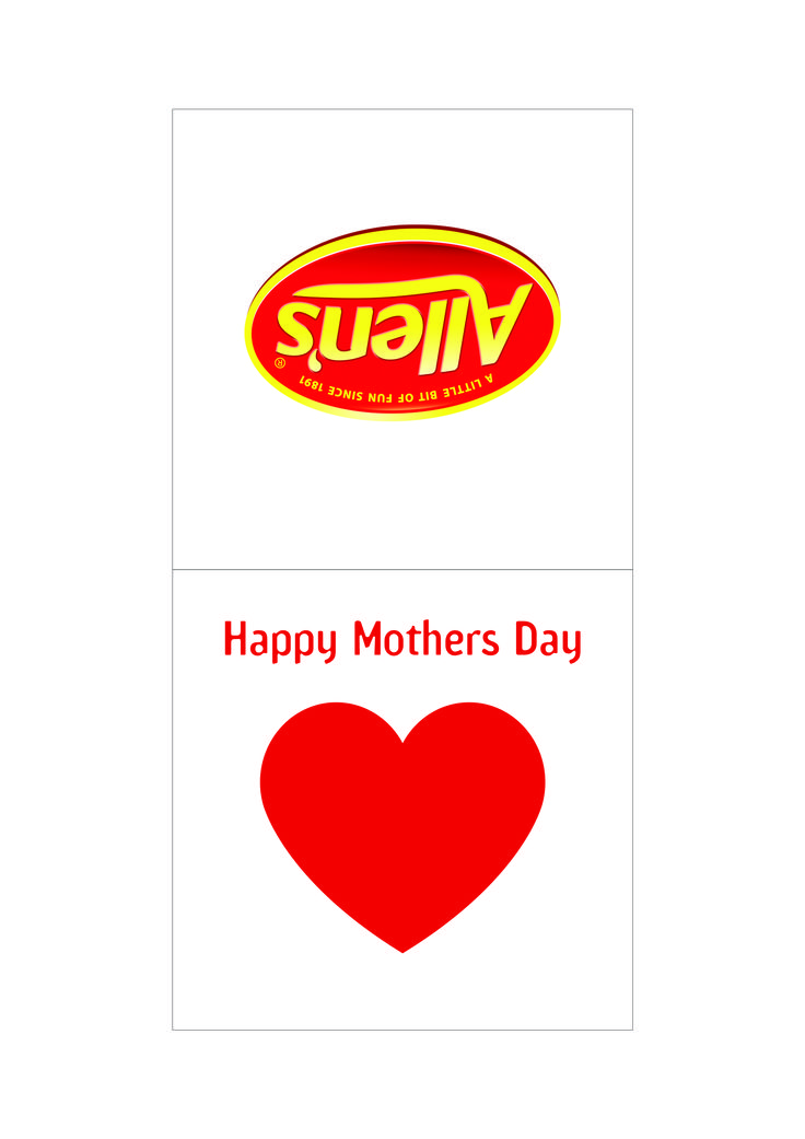 Make your own Mother's Day gifts with these cutouts! Pick up a pack of ALLEN'S All About Red from Coles, or your mum's favourite ALLEN'S Lollies to go inside