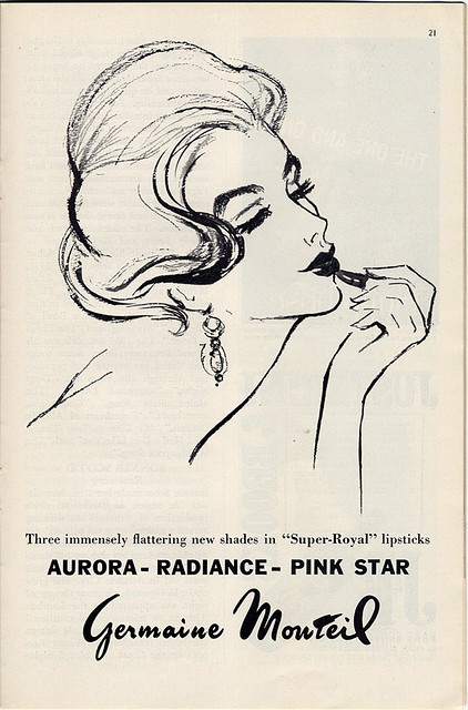 glamour vintage ad. i would love a whole stash of these for my walls!