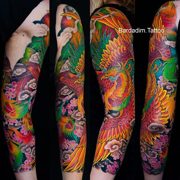 Japanese Sleeve Japanese Phoenix Tattoo Color Japanese Tattoo