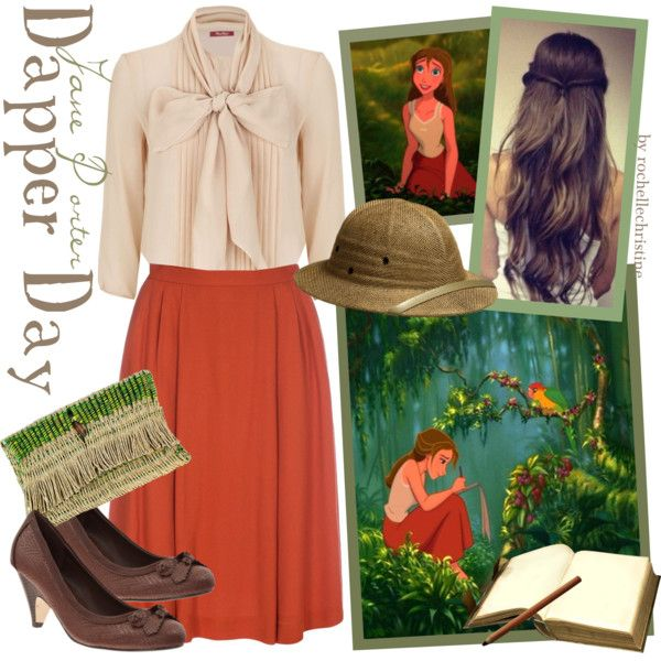 Dapper Day Jane by rochellechristine on Polyvore featuring MaxMara, Disney, Paul Smith, memento and vintage. Tarzan, Dapper day, Disney bound.