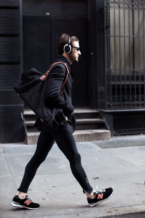 shoulder bag and headphones.
