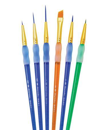 Six-Piece Detail Paint Brush Set #zulily #zulilyfinds