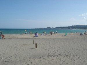 砂浜が続くビーチ。