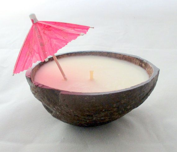 Coconut Soy Candle Decorative coconut by NorthernLitesGifts