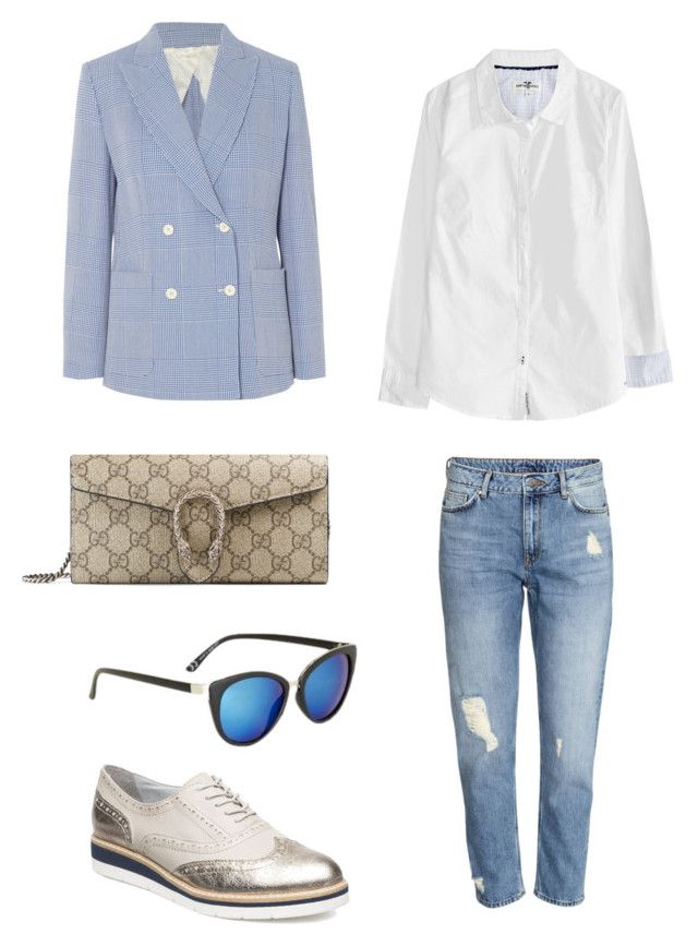 """""""Untitled #245"""" by stinasolheim on Polyvore featuring Tamaris, MaxMara, Gucci and Topshop"""