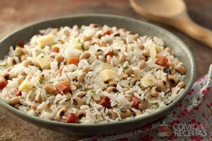 Receita de Baião de dois saboroso em receitas de legumes e verduras, veja essa e outras receitas aqui!