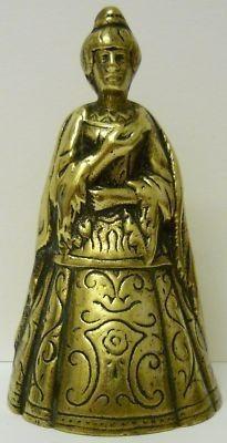Brass Lady Bell Medieval Tudor Queen Peerage England Vintage Rare (02/19/2012)