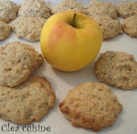 cookies à la compote de pomme et flocons d'avoine