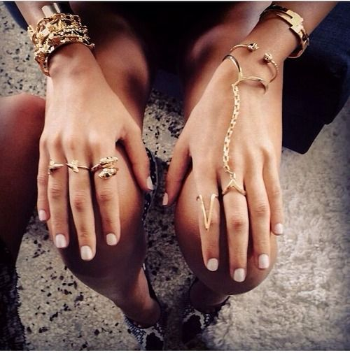 gold rings and bracelets