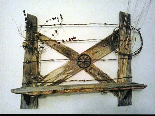 Jereme's barbed wire fence shelf