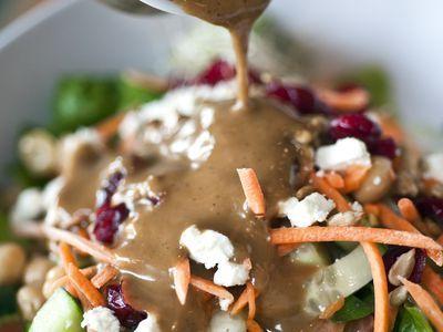A basic Dijon mustard vinaigrette salad dressing recipe, using red wine vinegar and some fresh herbs for a homemade vegan salad dressing of restaurant-quality. If you like vinaigrette dressings, try this homemade recipe.