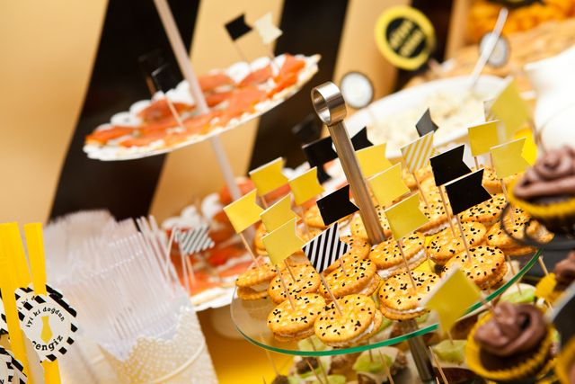Party food at a black and yellow party #blackyellow #partyfood