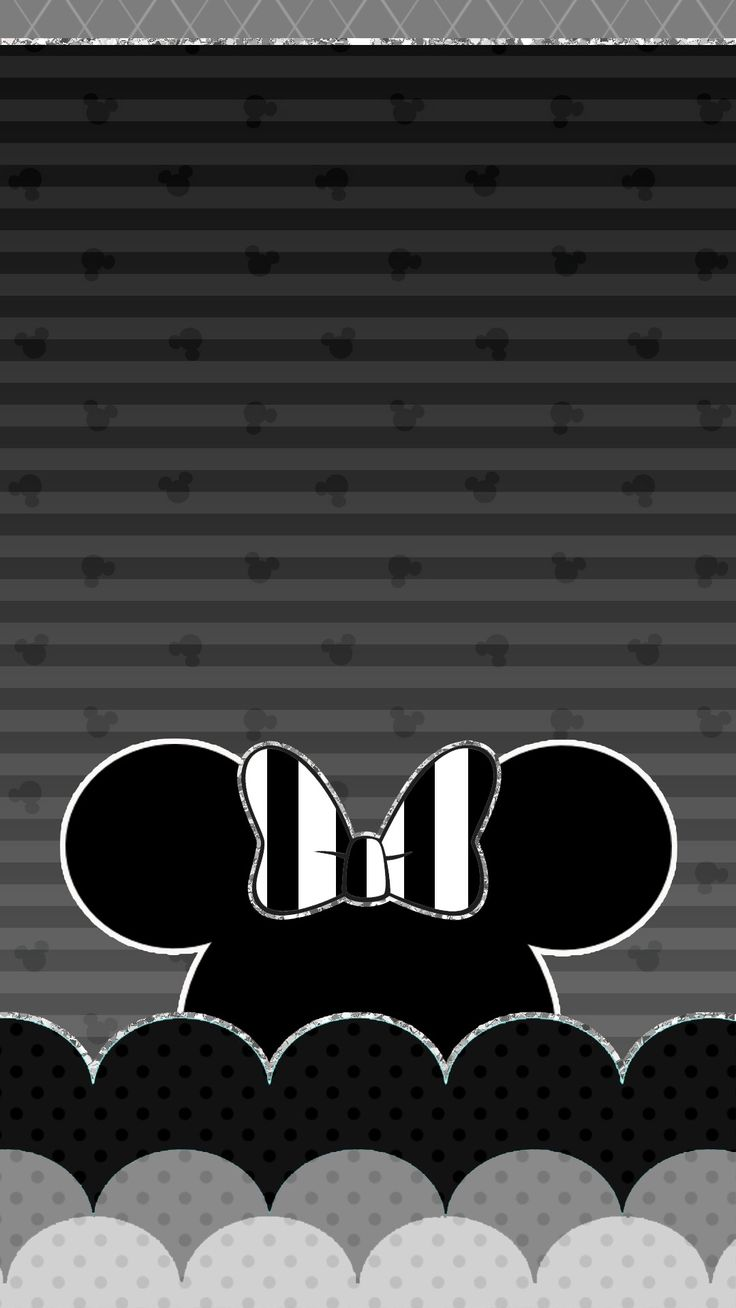 Beautiful Wallpaper Black And White Minnie Mouse