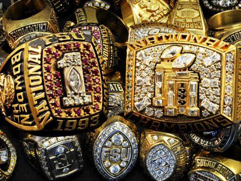 Florida State University - FSU Football Championship Rings Photographic Print