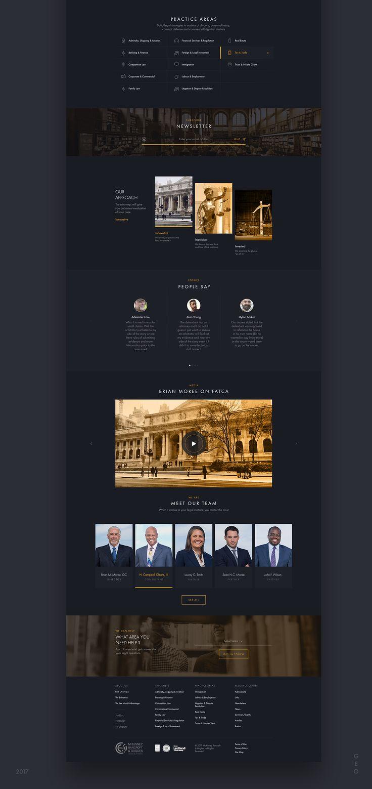 McKinney Corporate Website on Behance
