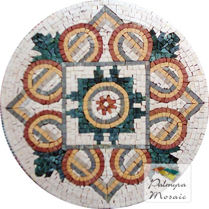 MD015 Marble Mosaic Medallion