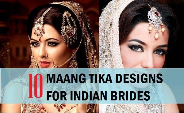 10 Indian Bridal Mang Tika designs 2015 Photos