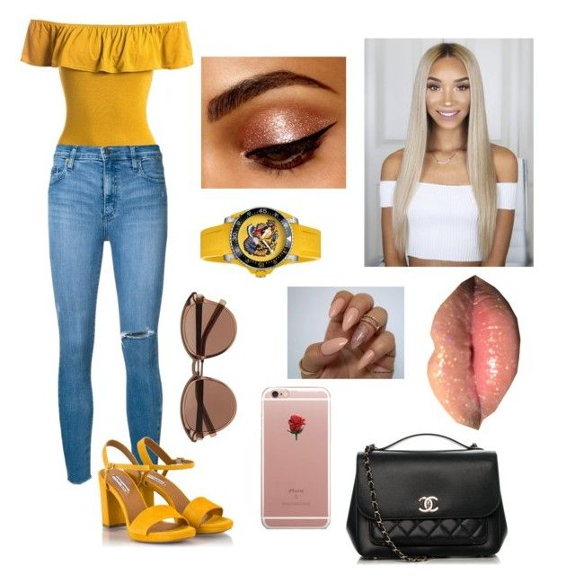 """""""Summer Feels"""" by luvtheskittles on Polyvore featuring Sans Souci, Nobody Denim, Fratelli Karida, Chanel, ETUÍ, Witchery and Gucci"""