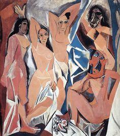 Picasso - Les Demoiselles d'Avignon: inauguração do cubismo (contextualização histórica), características e primeira vanguarda precursoras de todas as outras seguintes como o futurismo, dadaísmo e construtivismo