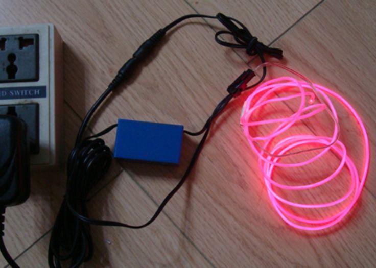 Fil lumineux électroluminescent rose