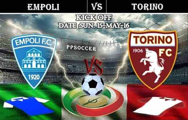 Empoli vs Torino 15.05.2016 Free Soccer Predictions, head to head, preview, predictions score, predictions under/over previus meeting italy serie A