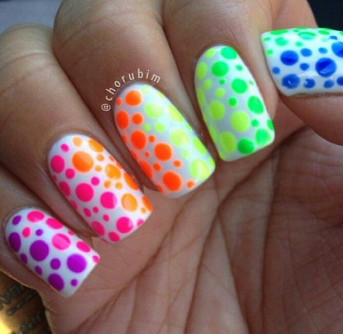 67 best Neon art images on Pinterest | Nail scissors, Dark nails and ...