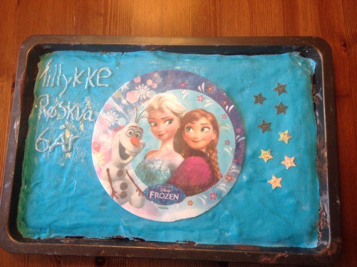 Fødselsdagskage til min datters 6 års fødselsdag❤️