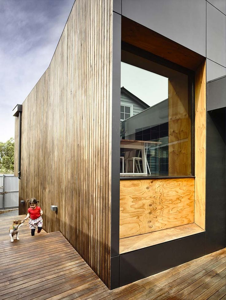 charcoal stained timber