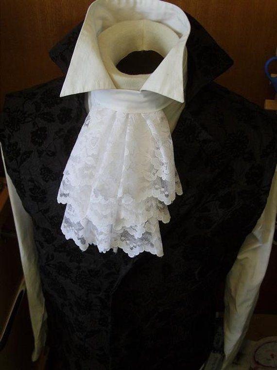 Art 237 Culos Similares A Jabot Cravat Tie Necktie White Lace