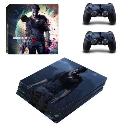 Uncharted 4 PlayStation 4 pro skin decal for console and controllers