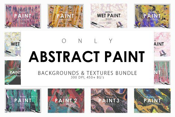 Only Paint Backgrounds Bundle by ArtistMef on @creativemarket