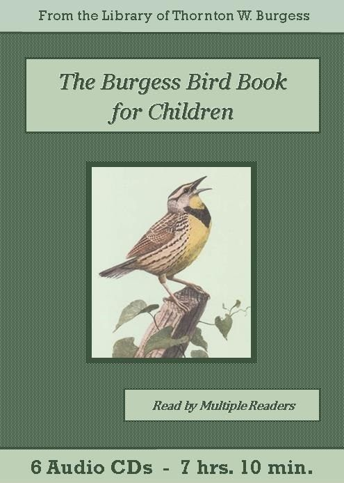 The Burgess Bird Book for Children is a zoology book written in the form of a story featuring Peter Rabbit. Peter learns from his friend Jenny Wren all about the birds of North America, and we meet many of them in the Old Orchard, the Green Meadow, and the Green Forest.  We meet Slaty the Junco, Redwing the Blackbird, Melody the Wood Thrush, Spooky the Screech Owl, and dozens of other common birds, learning about  their physical appearances, eating and nesting habits, and songs and calls…