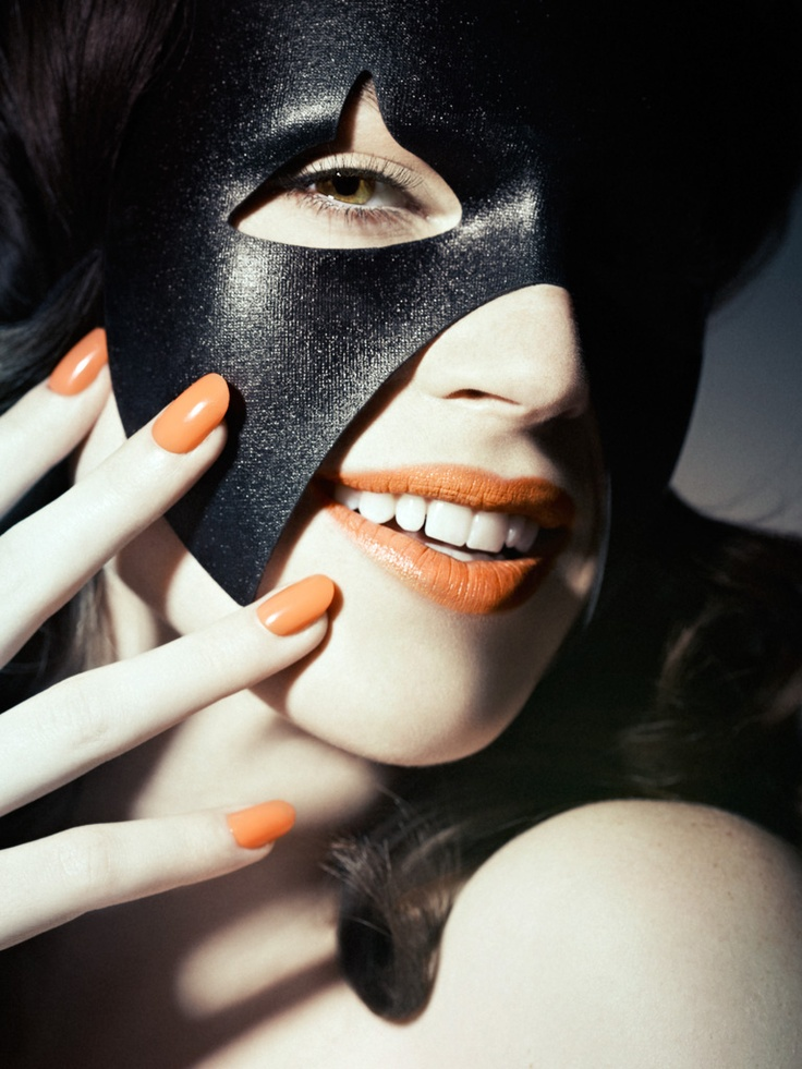 YYZ LIVING MAGAZINE/  Photography:  Vincent Lions, Judy Inc/  Makeup and hair:  Dee Daly, Judy Inc #beauty #yyz #toronto #makeup #mask #orangelip #lipstick #nails #fashion #style #photography #hair #closeup
