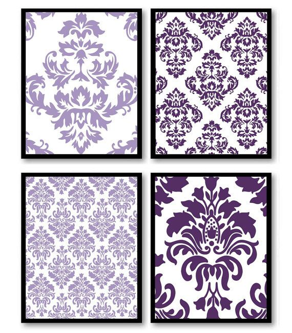 Kitchen Print Kitchen Wall Art Purple Kitchen Decor Gratitude: 1000+ Ideas About Purple Bedroom Walls On Pinterest