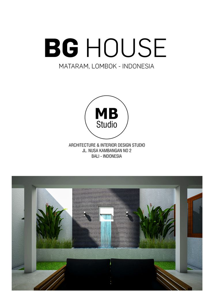 BG HOUSE COVER PORTFOLIO -MB STUDIO