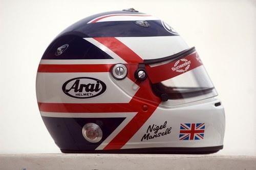 Nigel Mansell's helmet