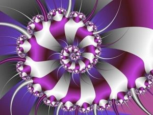 Perfect Purple Fractal by cdanielle