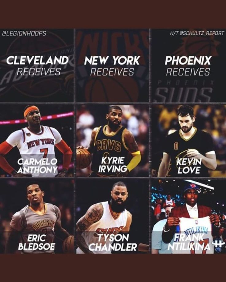 Instagram account @legionhoops posted a possible 3-team trade between the Cavs , Knicks , and Suns as seen in the photo above. What do you all think? 🔥🤔