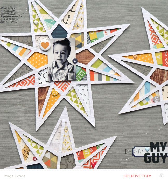 #papercraft #scrapbook #layout  MY GUY *MAIN KIT* by Paige Evans by PaigeEvans at @Studio_Calico