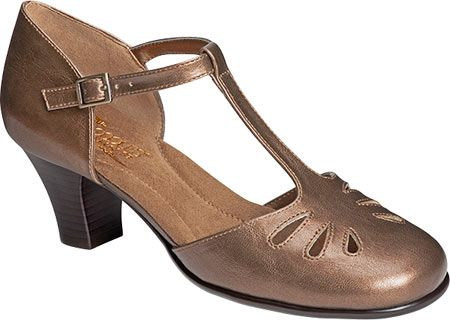 Women's Aerosoles Marine Corps T-Strap - Bronze Metallic Synthetic with FREE Shipping & Exchanges. With a Mary Jane flair, the Marine Corps T-strap is wondrously in tune with your needs. Wear it to
